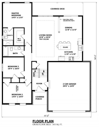 Garage Blueprint Narrow Raised Bungalow Canadian Home Designs Custom House Plans
