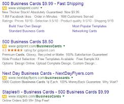 9 99 Business Cards Google Removes Right Sidebar Ads And Experiments A Concierge