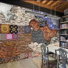 home improvement 3d wallpaper for walls 3d decorative vinyl retro brick wall paper background painting mural