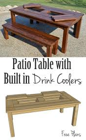 table ice chests patio coolers wonderful ice chest table find