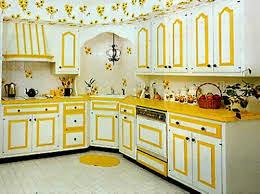 Yellow Kitchen Cabinet Yellow And White Painted Cabinets Designs Ideas And Decors