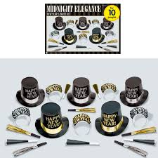 new year party kits midnight elegance new year s party kits 4 pkg 20 amscan
