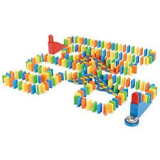 pubga e 200 pieces domino demolition run building family fun traditional