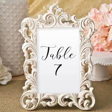 picture frame wedding favors ivory and brushed gold frames 4 x 6 for table numbers tea and becky