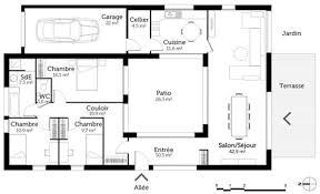 plan de maison de plain pied 3 chambres plan de maison 3 chambres plain pied 8 plan de maison