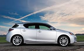 lexus ct200h vs audi a3 tdi ct shown in liquid platinum with available 17 inch f sport trident