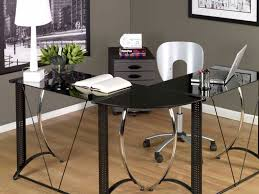 Desk For Laptop And Printer by Furniture Black Glass Computer Desk Pc Laptop Printer Table Home