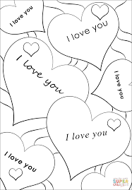 i love you hearts coloring page free printable coloring pages