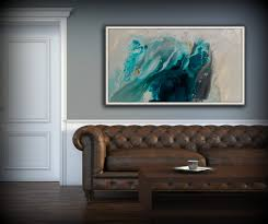 abstract art blue wall art coastal landscape giclee large print on