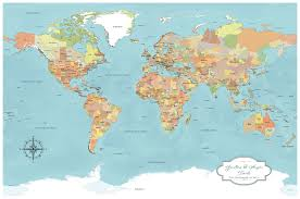 World Map 1800 by Cotton Anniversary World Push Pin Map Multiple Color Options