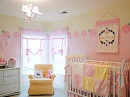 Sheer Pink Curtains Pastel Pink And Yellow Color Ideas For Girls Nursery Room And