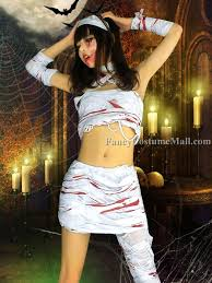 Halloween Costumes Mummy Split Bandage Mummy Cosplay Halloween Costume Fancy Costume Mall