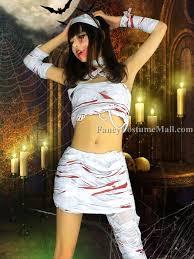 Mummy Halloween Costume Split Bandage Mummy Cosplay Halloween Costume Fancy Costume Mall