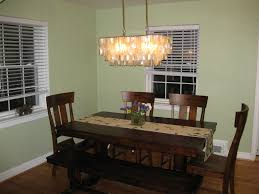 rustic dining room lighting kitchen fabulous chandelier over dining table dining table