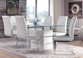 dining room white leather chrome dining chairs grey white dining