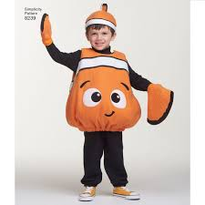 Nemo Halloween Costume Pattern 8239 Disney Finding Dory Costumes Toddlers