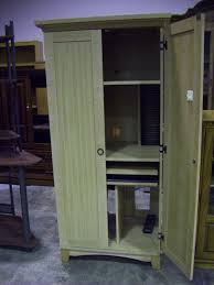 Computer Armoire Furniture Beautiful Wooden Computer Armoire With Shelves And With