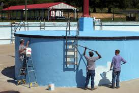 New Paint by Dreamland Pool Gets A New Paint Job News Herald Dispatch Com