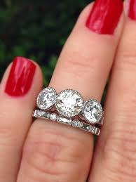 engagement ring right best 25 3 ring ideas on three