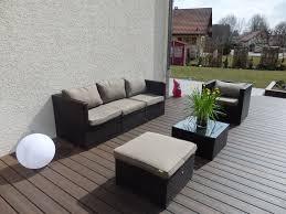 canapé jardin résine salon jardin en resine salon exterieur materiaux naturels chagne