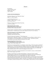 correctional officer job description resume resume for your job