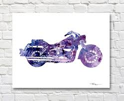 Harley Davidson Baby Bed Set Harley Davidson Art Print Abstract Motorcycle Watercolor