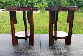 Diy Round End Table by Round Top Pallet End Tables Pallet Furniture Diy