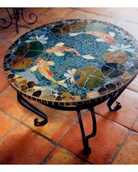 Mosaic Table L Great Deal On Mosaic Koi Table Custom Order Tabletop 30 End Table