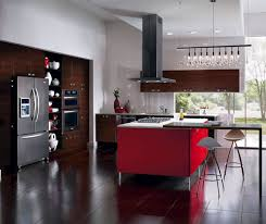 European Style Kitchen With Red Kitchen Island Kitchen Craft - European kitchen cabinet