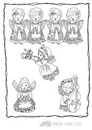 angel christmas coloring pages of choir of angels 13 a whole choir