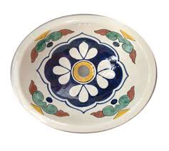 Small Drop In Bathroom Sink 070 Small Bathroom Sink 16x11 5 Mexican Ceramic Hand Paint Drop In