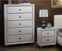 Best White Bedroom Furniture Images On Pinterest White - White faux leather bedroom furniture