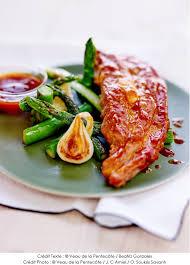 comment cuisiner le tendron de veau recette de tendron de veau laqué sauce barbecue oignons nouveaux
