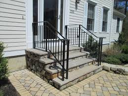 wrought iron handrails for exterior stairs