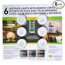 led puck lights costco capstone 6 led wireless puck lights with remote control white