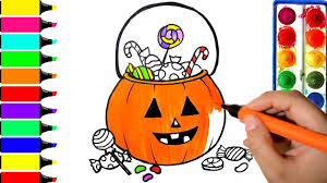 halloween trick treat coloring pages art colors kids