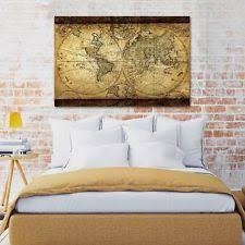 Map Home Decor Vintage World Map Home Décor Posters U0026 Prints Ebay