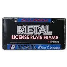 sdsu alumni license plate depaul blue demons alumni metal license plate frame w