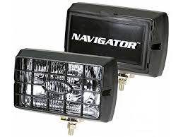 pilot automotive navigator driving and fog lights rectangular or