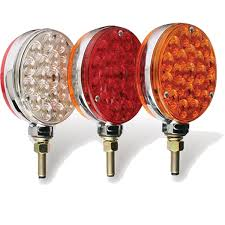 4 inch round led lights 4 inch round led pedestal light trucking and heavy haul superstore
