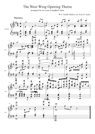 the west wing opening theme handbells musescore