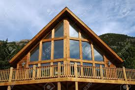 A Frame House For Sale An A Frame Cabin In The Mountains Stock Photo Picture And Royalty