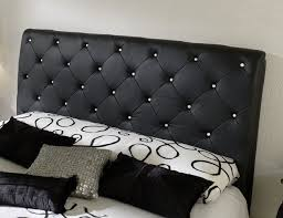Leather Headboard Platform Bed Spain Platform Bed With Tufted Leather Headboard And Crystals
