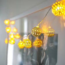 gold tangier moroccan fairy lights lights4fun co uk