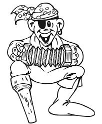 imprime le dessin à colorier de pirate