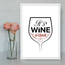 Wine Kitchen Decor by It U0027s Wine O U0027clock Funny Wine Quotes Wine Decor Wine