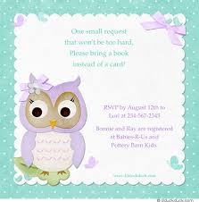 bring a book instead of a card baby shower owl brunch shower card set turquoise aqua lavender