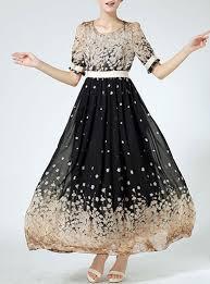 size ankle length semi formal dress vanilla black