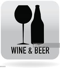 wine glass silhouette royalty free wine glass and beer stein icon in grey vector art