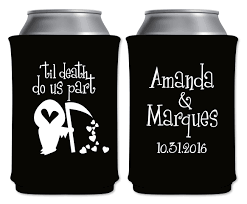 wedding can koozies til do us part 1b custom coolers wedding favors